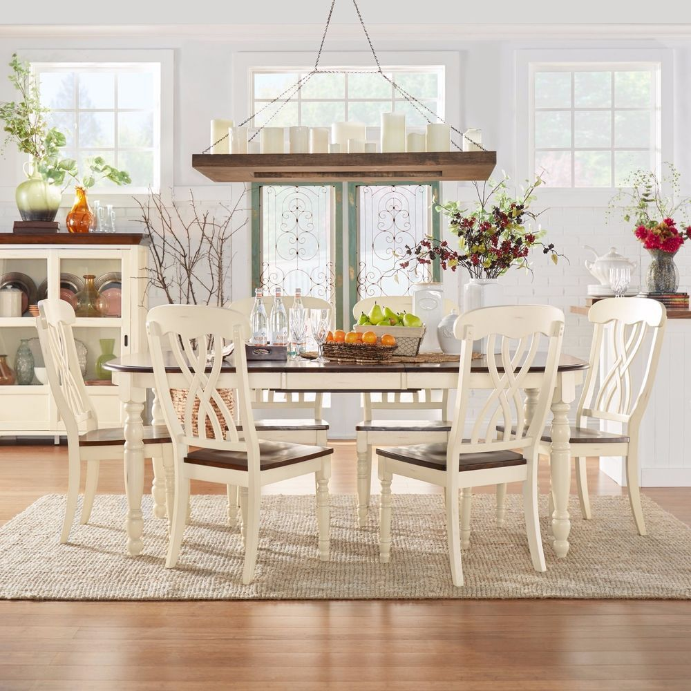 One Dining Room Three Different Ways: Dining Room Set Country Antique Furniture Oval Table Chair