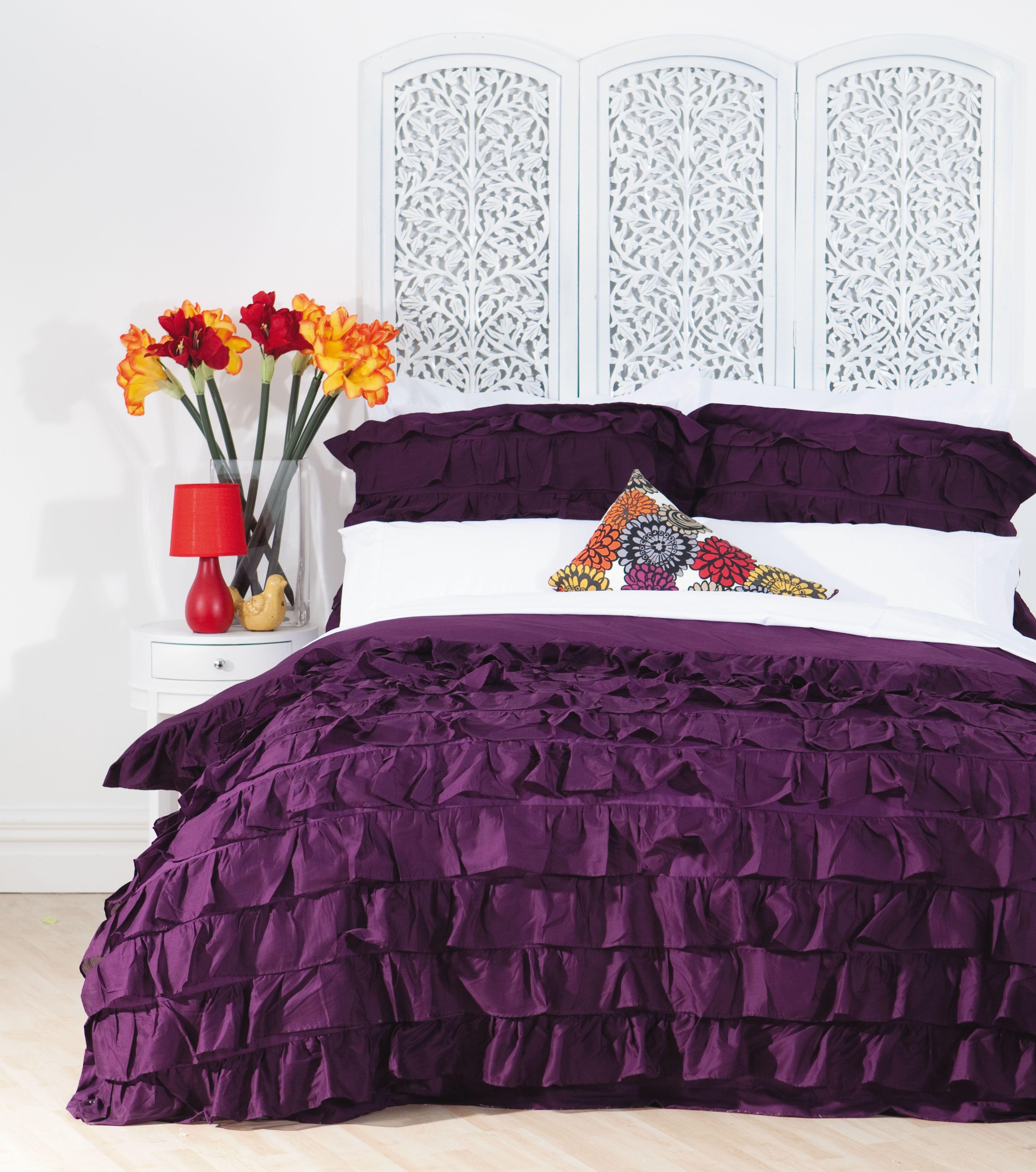 Bed Bath & Beyond Online Shopping Ruffle duvet cover