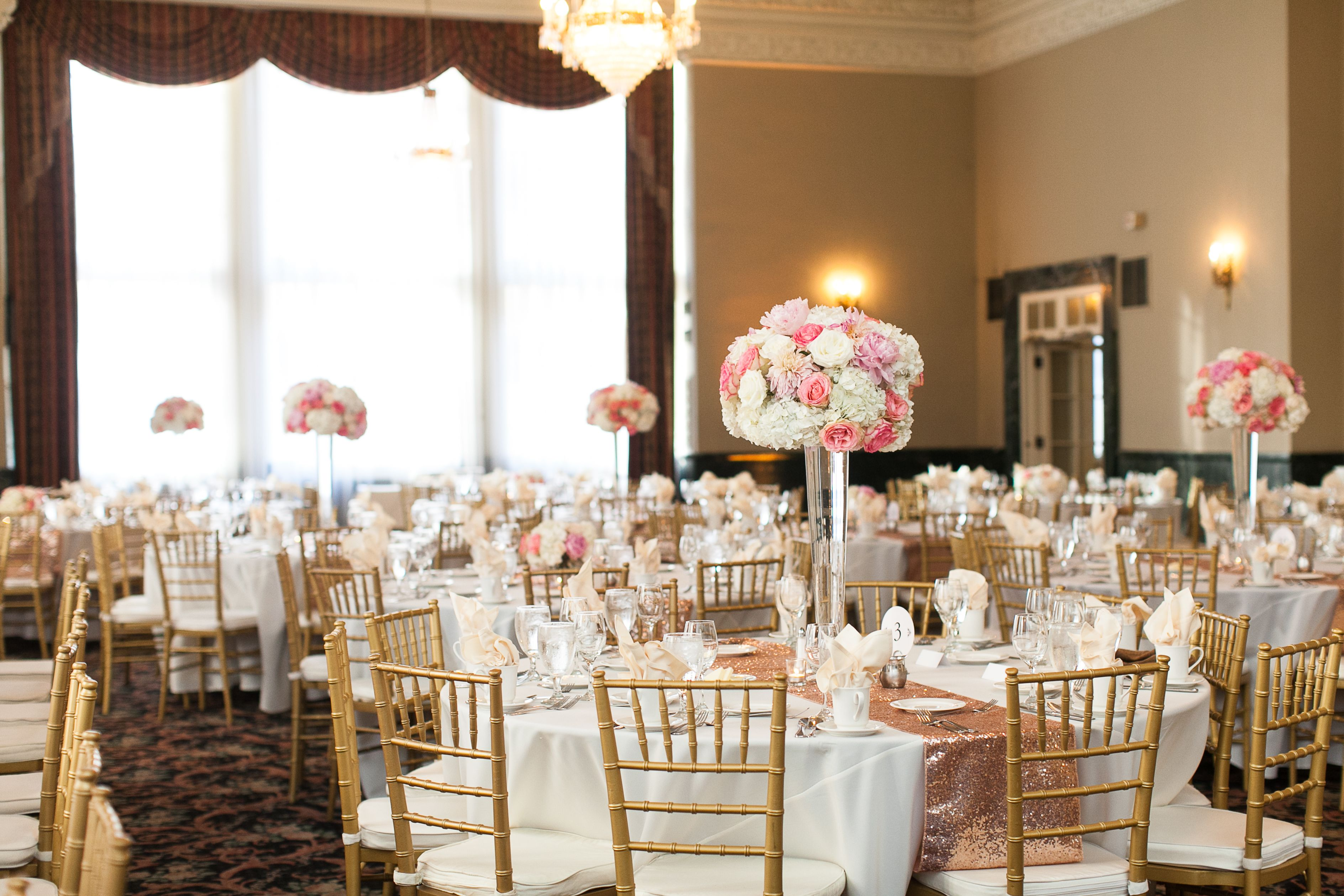 Elegant Wedding Reception At St Paul Athletic Club Mn Venue Tall Centerpieces By Bel Fiore A Minnesota Florist Betsy Wall