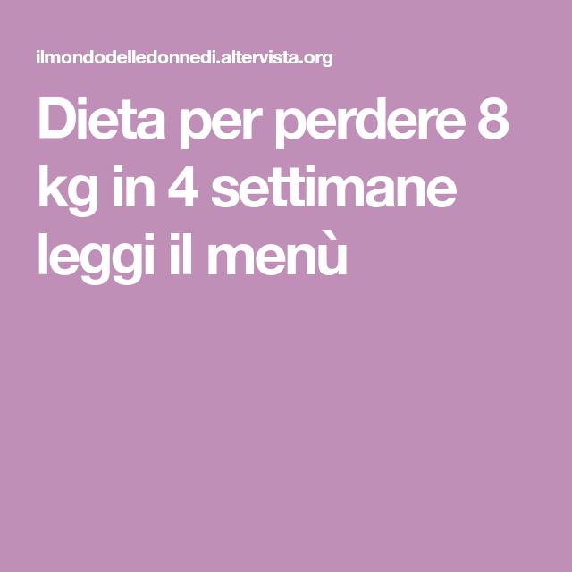 perdere 10 kg in 8 settimane