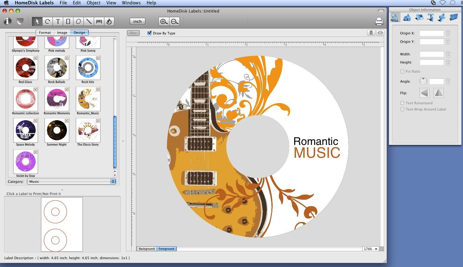 microsoft word cd cover template