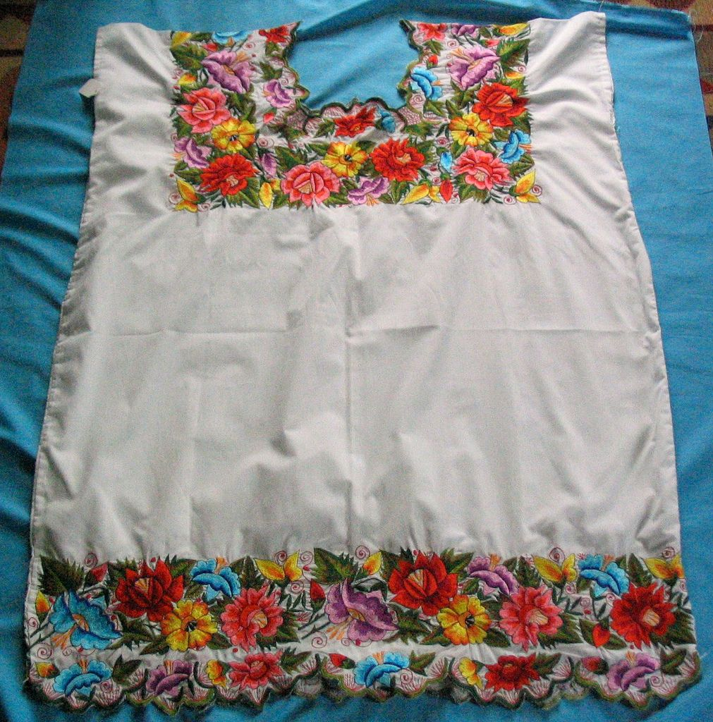 Yucatan Maya huipil   1   Pinterest   Mexican embroidery, Embroidery ...