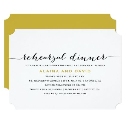 Wedding Rehearsal and Dinner Invitation - invitations personalize