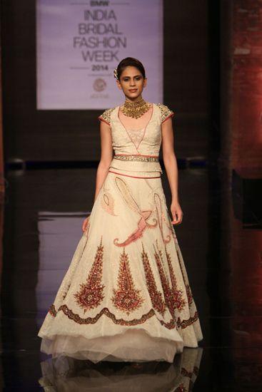 Lengha By JJ Valaya At India Bridal Fashion Week 2014