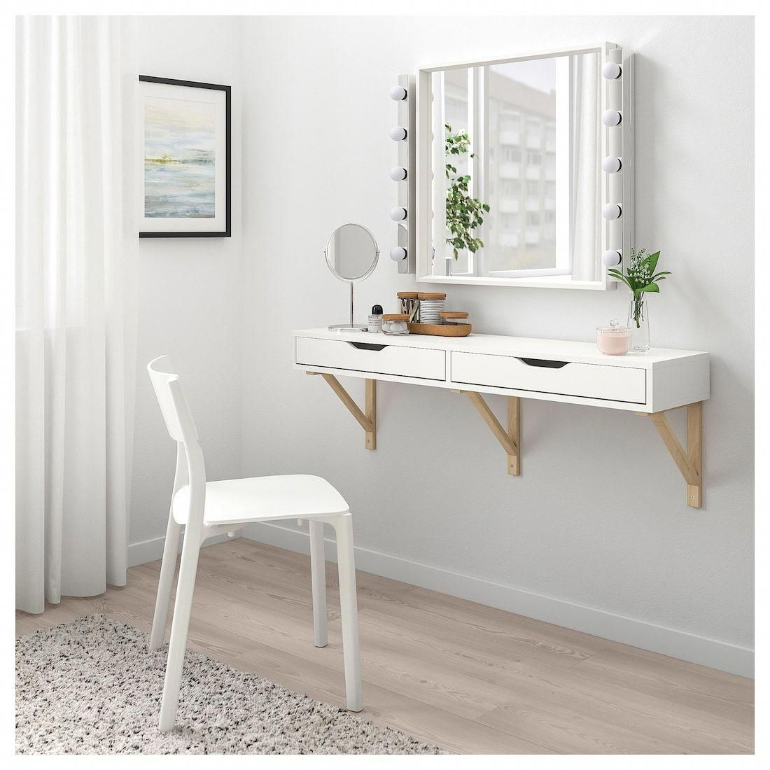 Ekby Alex Shelf With Drawers White Ikea Ikeabedroomideas