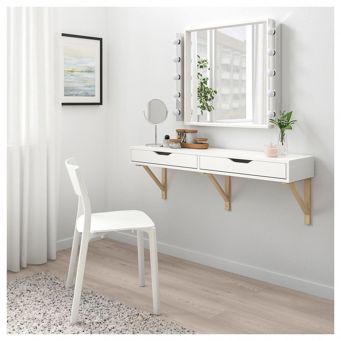Ekby Alex Shelf With Drawers White 46 7 8x11 3 8 Ikea Wall Shelf With Drawer Ikea Wall Shelves Ikea Ekby
