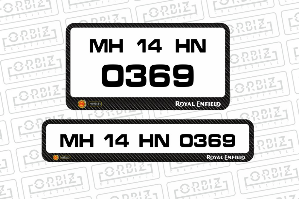 Royal Enfield Bike Number Plate Designs Number Plate Royal
