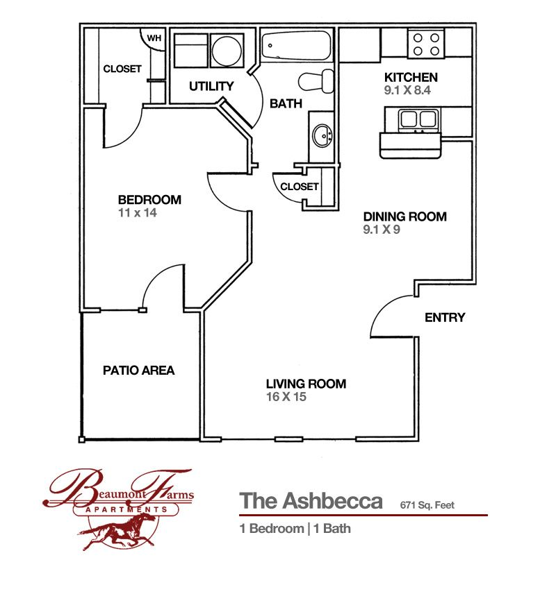 Lexington Apartments For Rent One Two And Three Bedroom Plans Apartment Floor Plans 3 Bedroom Apartment