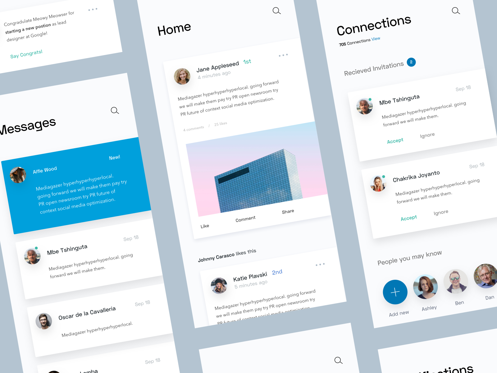 LinkedIn App Concept | Inspiration • App Design | Linkedin app, App