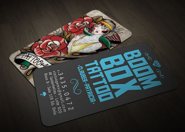 Boom box tattoo business card by wellington mota ilustracin boom box tattoo business card by wellington mota colourmoves