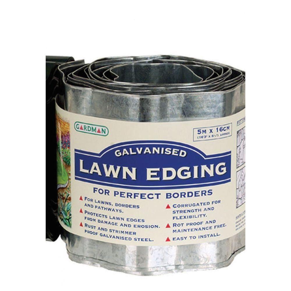 Galvanised Steel Border Lawn Edging - Modern Design ...