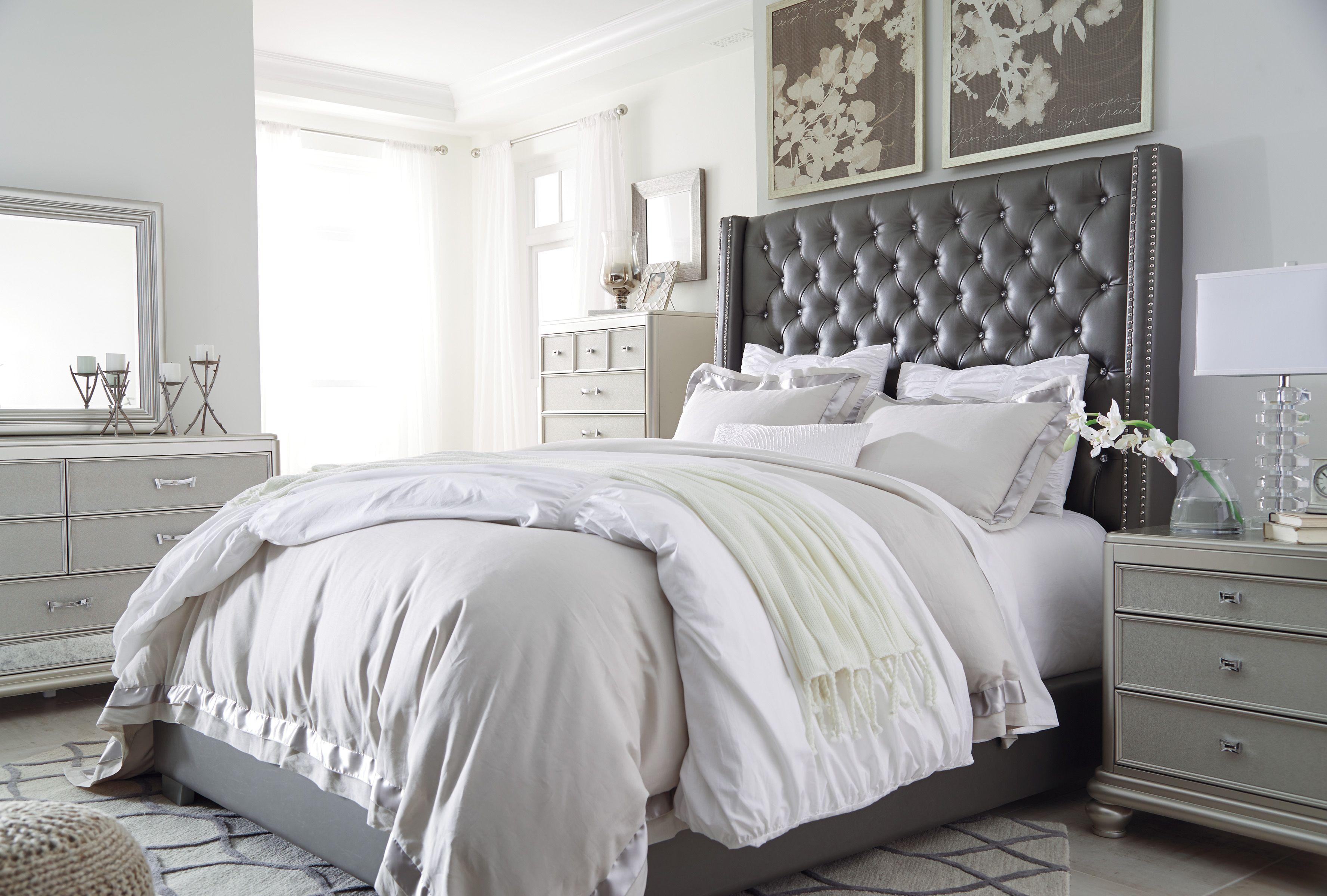 Ashley Coralayne B650 Upholstered Bed Bedroom Set Upholstered Bedroom Set Bedroom Furniture Sets King Upholstered Bed