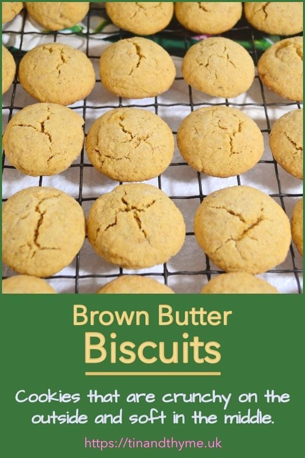 Brown Butter Biscuits with Optional Cardamom - Tin
