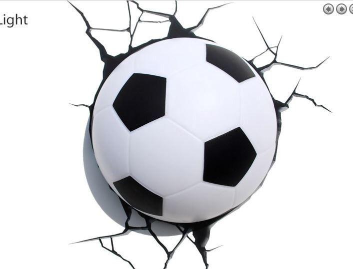 Fu ball 3d dekolicht bundesliga wm kinderzimmer for Jugendzimmer gestalten 3d