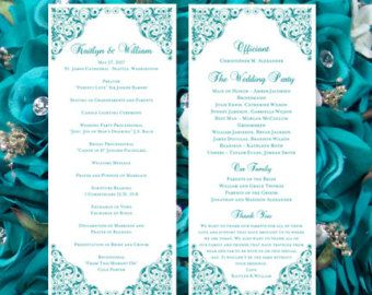 Wedding Program Template Faith Purple Editable Worddoc Instant Download Order Any Color Make Your Own Ceremony Programs DIY You Print