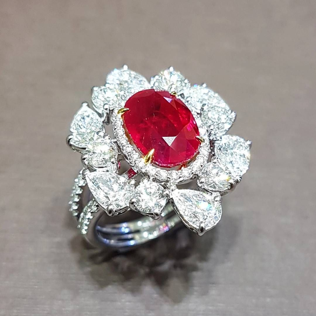 Prima Gems Primagems Official On Instagram The Ruby Ring From The Incredibles By Primagems Is A Stunning 4 Fancy Diamond Ring High Jewelry Ring Ruby Ring