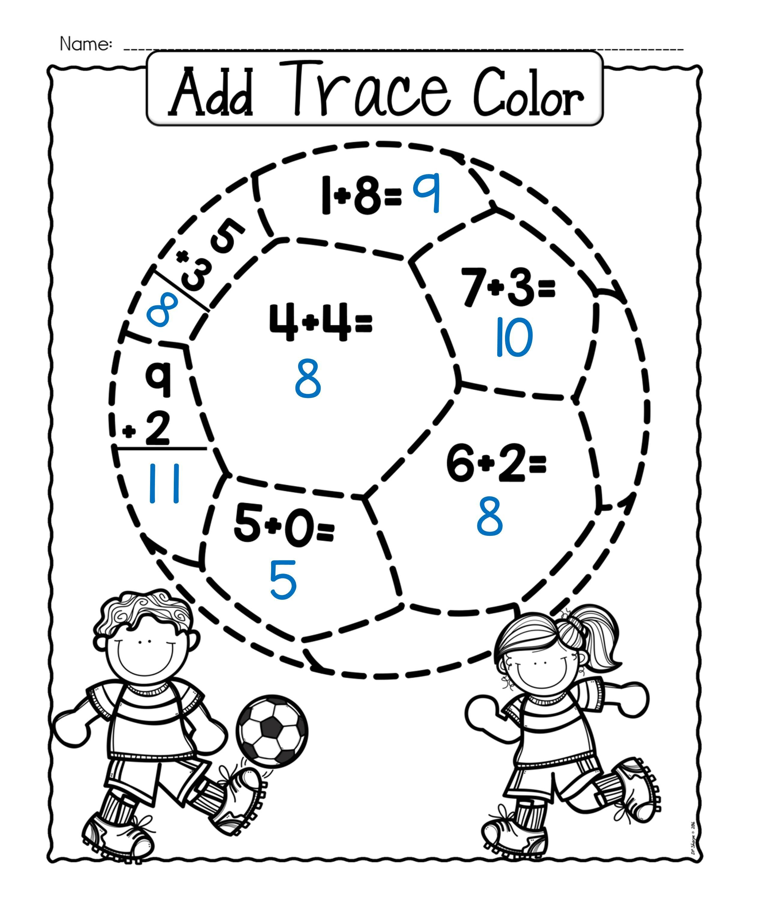 Addition Fun Worksheets And Activity Set For Young