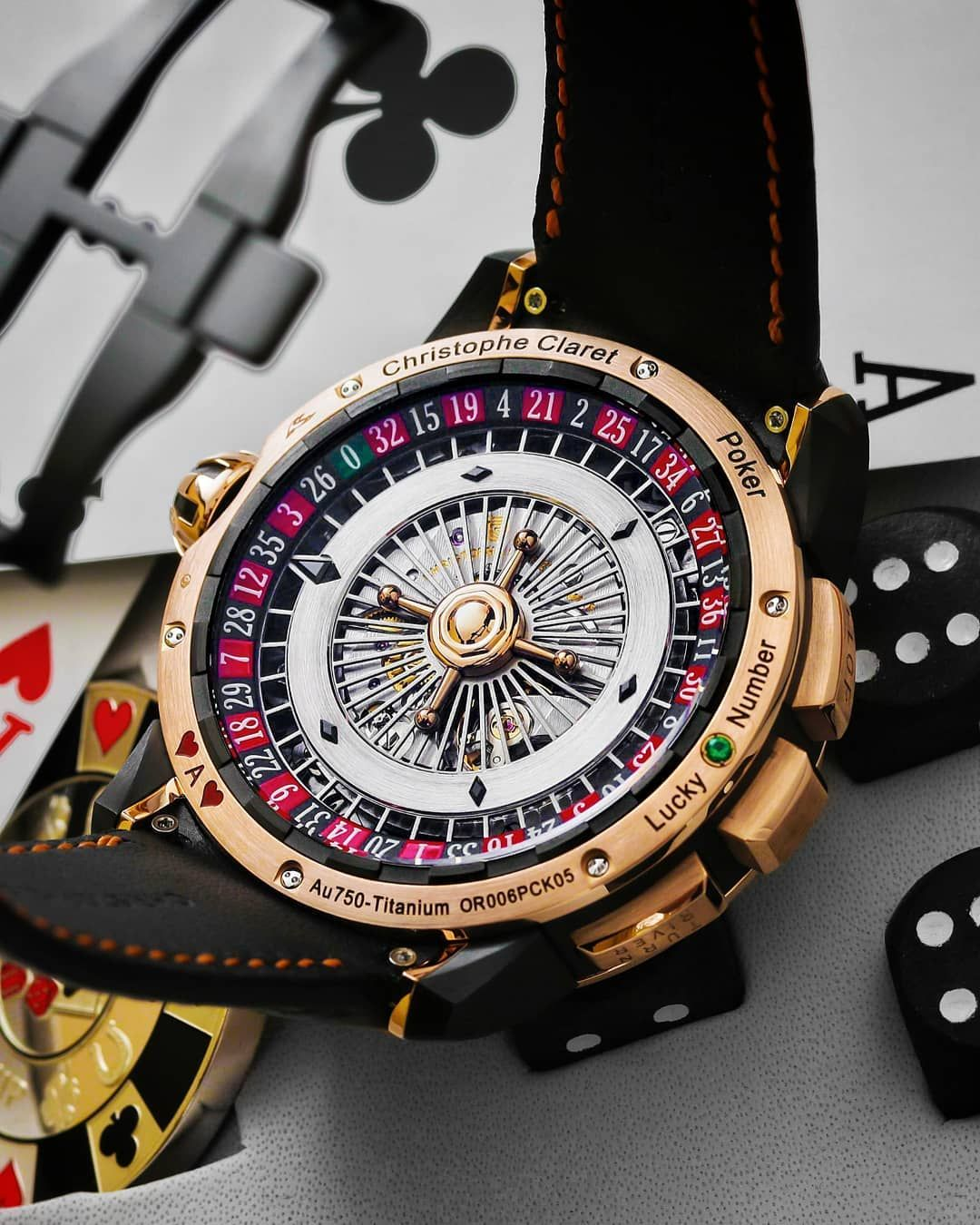 "ff260a8b2 Swiss Watch GangⓂ on Instagram: ""Casino on your wrist, the movement side of  the Christophe Claret Poker with a gorgeous spinning roulette table."