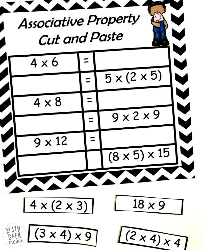 5 Associative Property Of Addition Worksheets 2 In 2020 Associative Property Properties Of Multiplication Commutative Property