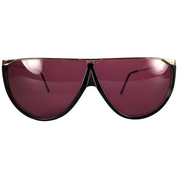 13fccad25c7 Preowned New Vintage Gucci Gg 1305 Black   Gold Sunglasses 1990 s ...