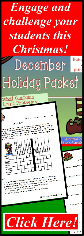 Christmas Activities | TpT Math Lessons | Pinterest