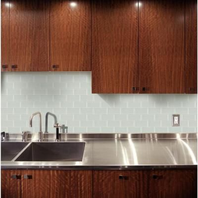 Ms International Arctic Ice 3 In X 6 Gl Wall Tile 1 Sq Ft Case Smot T Ai36 At The Home Depot