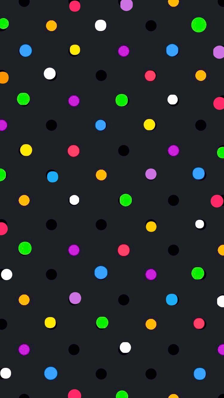 Color Dots On Black Wallpaper Polka Dots Wallpaper Dots