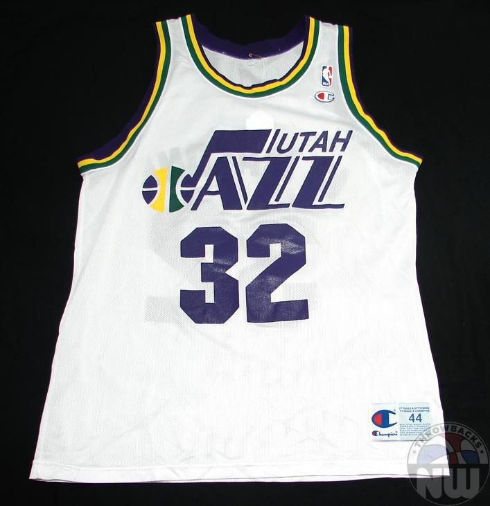 innovative design a103b 63f15 karl malone green jersey