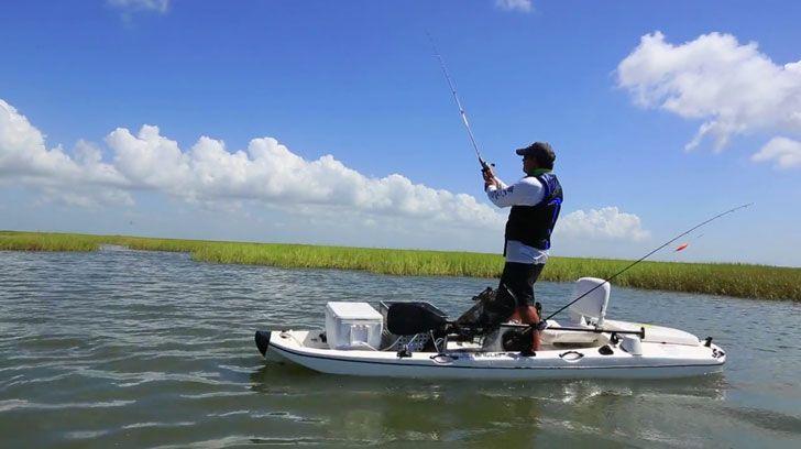 57d32eed78e6 Jet Powered Fishing Kayak   BOATS   Kayak fishing, Small fishing ...