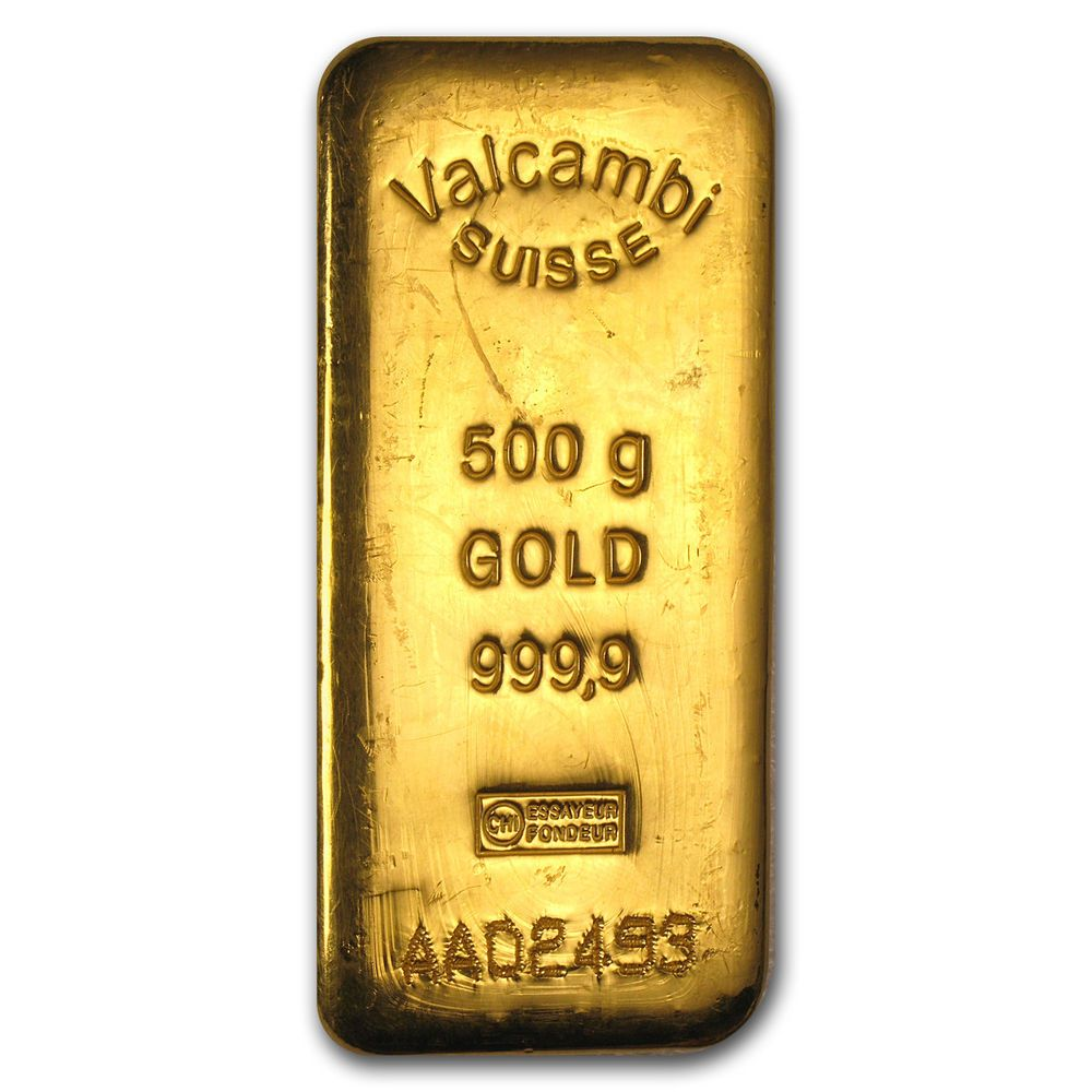 500 Gram Gold Bar Valcambi Vintage Hand Poured Sku79242 Gold Bars For Sale Gold Bar Gold Money
