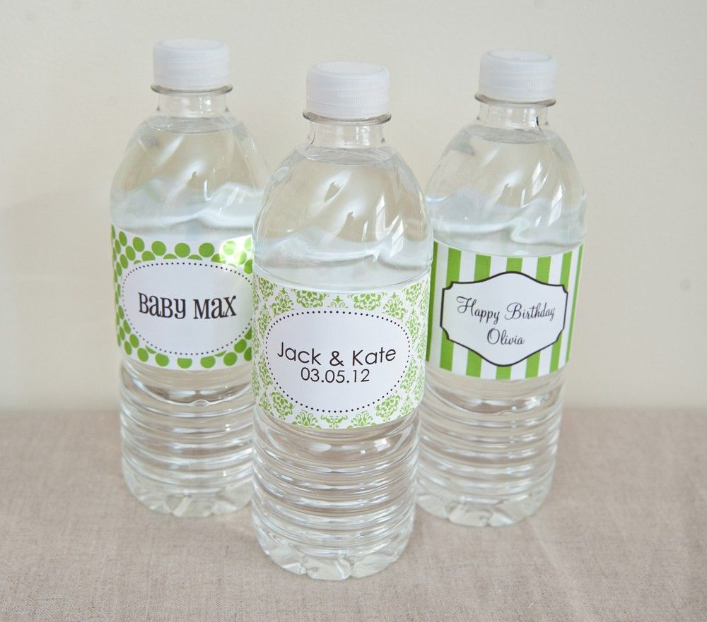 Water Bottle Labels - PRINTABLE only | Water bottle labels, Water ...