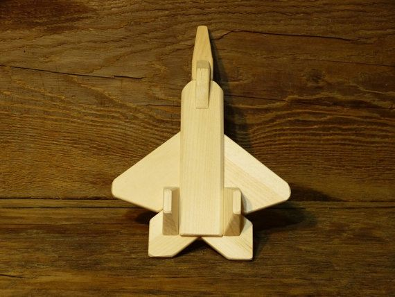 Handmade Wood Toy F-22 Jet plane Airplane Wooden Toys Eco Friendly ...