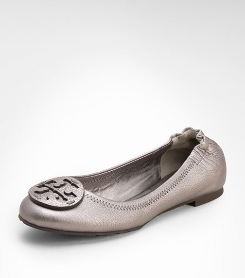 74e4d5afeec8 Love go with anything pewter. Metallic Reva Ballet Flat
