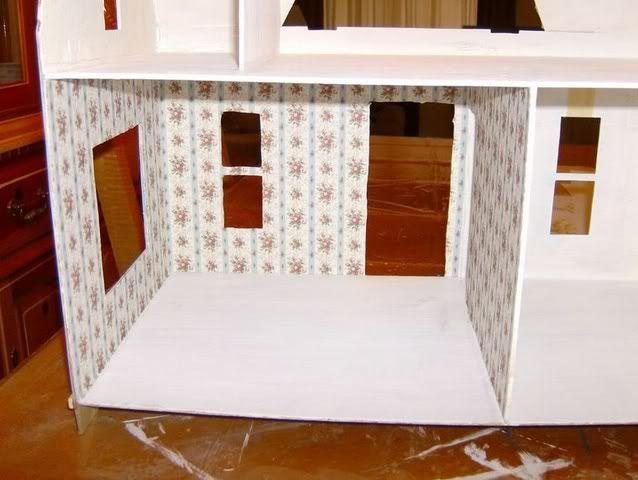 More Minis Blogspot Dollhouse Wallpapering Guide Doll House Dollhouse Projects Dollhouse Tutorials