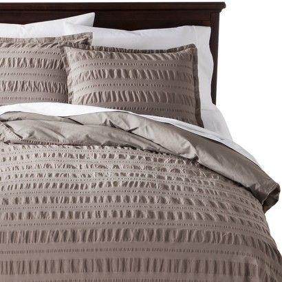 modern master bedroom with threshold seersucker duvet cover set | Threshold™ Seersucker Duvet Cover Set | Duvet cover sets ...