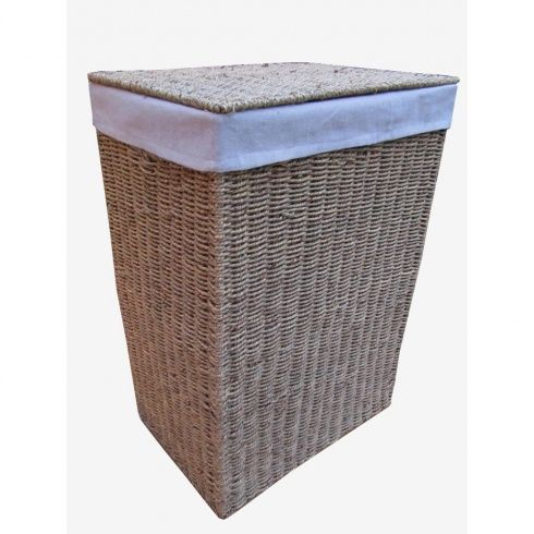 Seagrass Laundry Basket Lined Laundry Basket Basket Wicker Laundry Basket