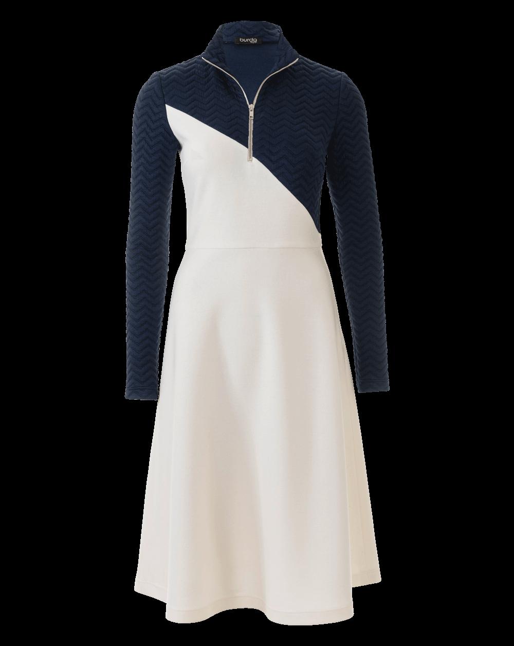 Kleid mit stehkragen nahen
