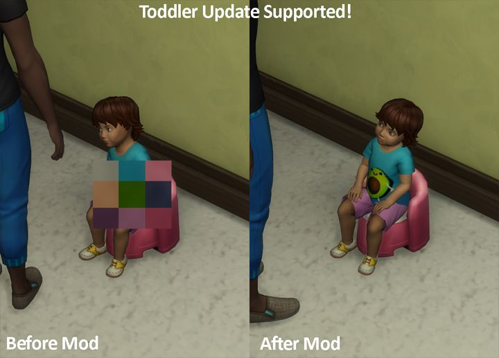 Mod The Sims - No Mosaic / Censor Mod for The Sims 4