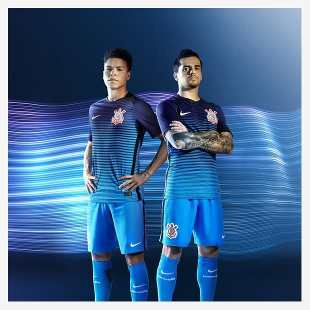 Terceira camisa do Corinthians 2016-2017 Nike (Azul  f894407ae020a