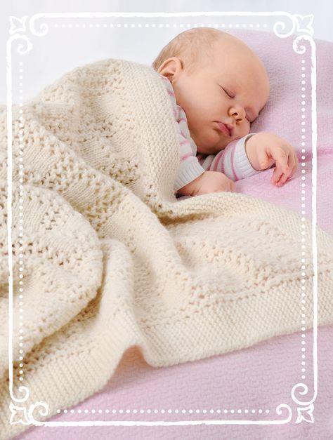 baby plaid selber stricken f r babys strick anleitung via strickanleitung f rs. Black Bedroom Furniture Sets. Home Design Ideas