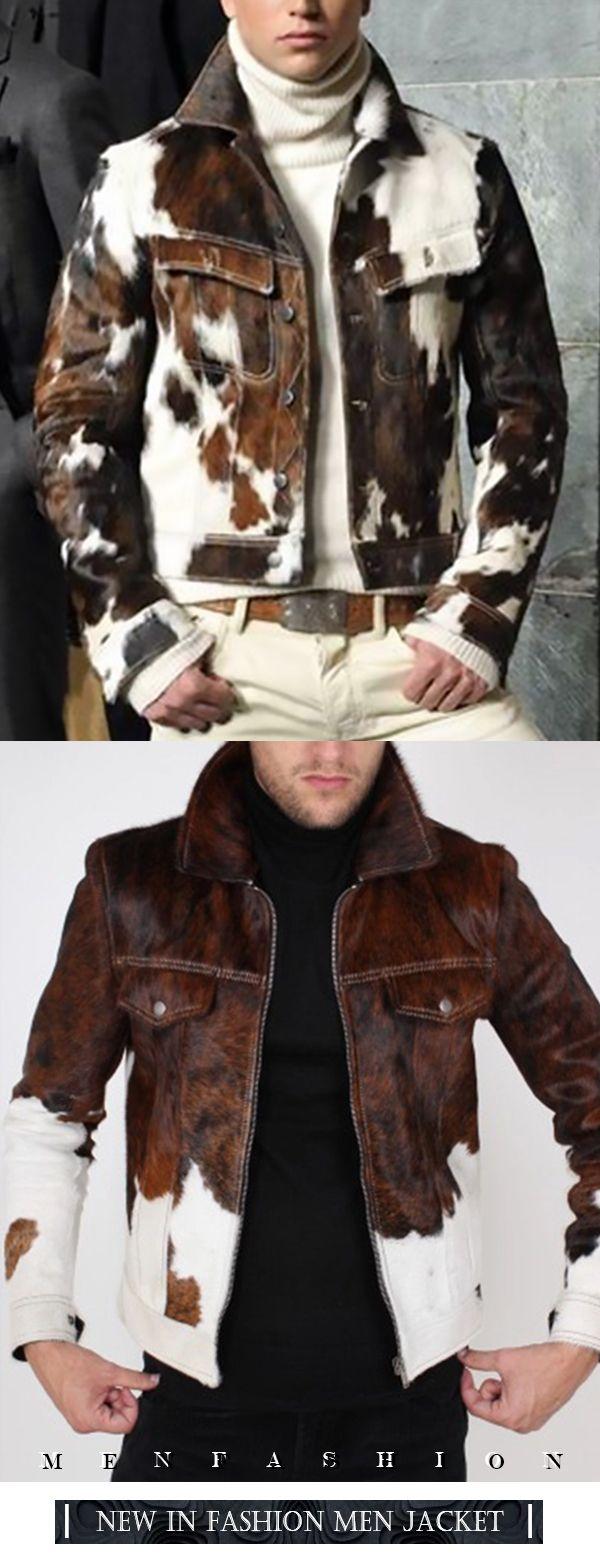 Photo of Men's Fashion Single Breasted Turndown Collar Loose Jacket