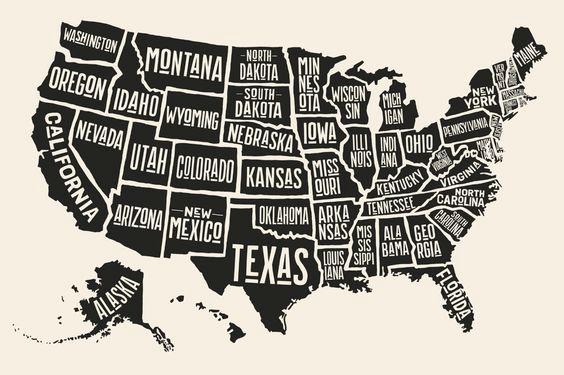 50 Novelas 50 Estados Lista De 51 Libros Babelio Mapa De Estados Unidos Estados Unidos De América Mapa De America