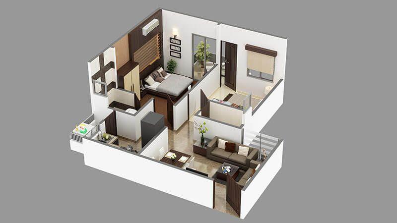 3D Floor Plan Rendering Studio offer 3D floor plan Design