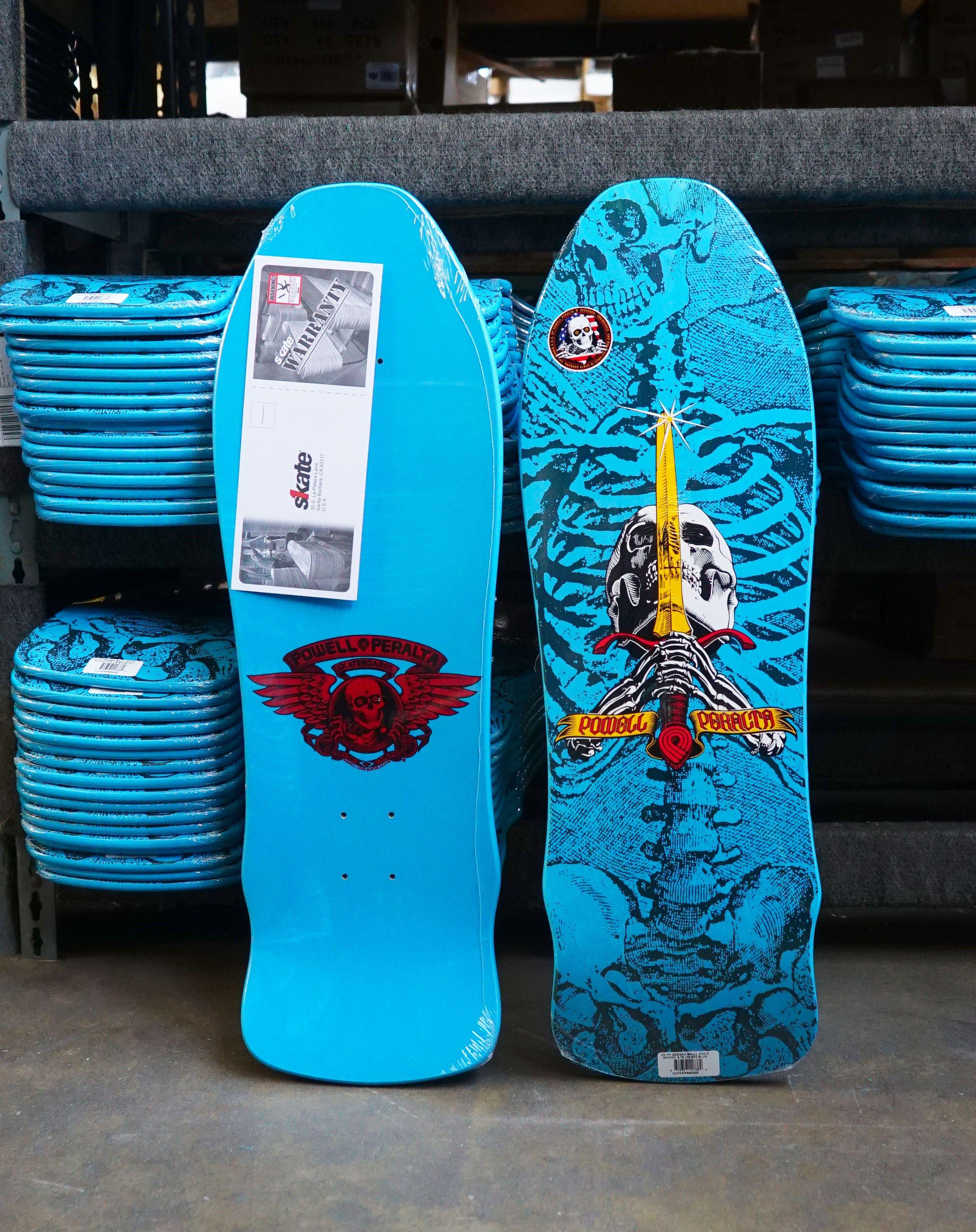 2b10b749bf3b2 Powell Peralta Geegah Skull and Sword Skateboard Deck Blue - 9.75 x ...