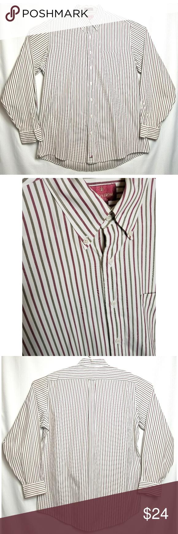 Nordstrom Men S Striped Dress Shirt 16 1 2 36 Nordstrom Shirt Dress Red Shirt Dress Striped Dress [ 1740 x 580 Pixel ]