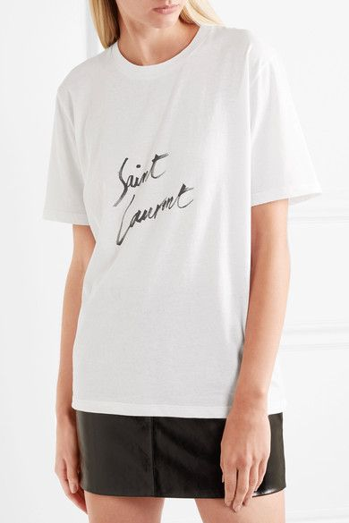 Saint Laurent - Printed cotton-jersey T-shirt
