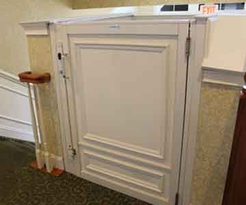 Commercial vertical wheelchair lifts in a range of designs