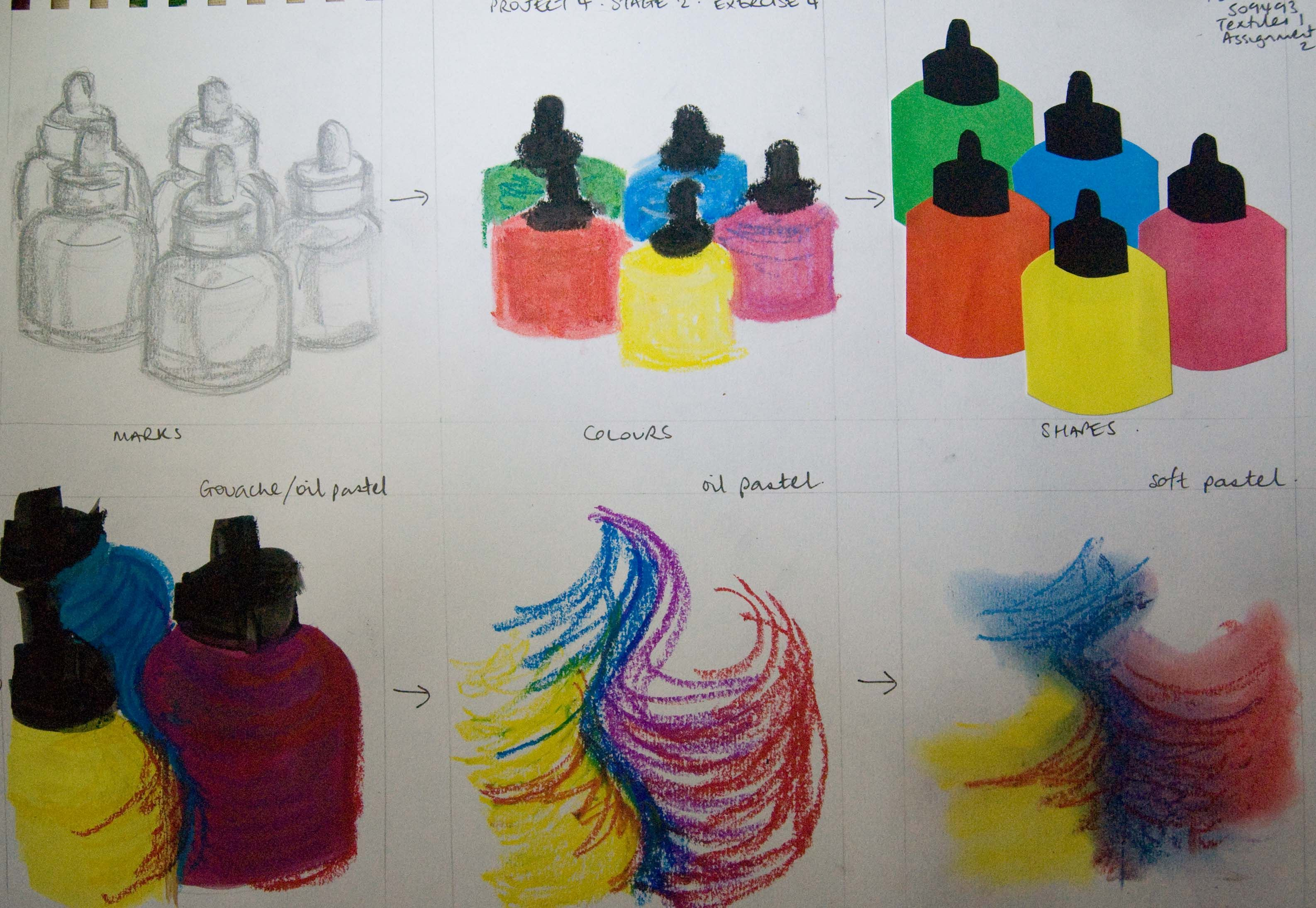 Image Result For Oil Pastel Practice Exercises