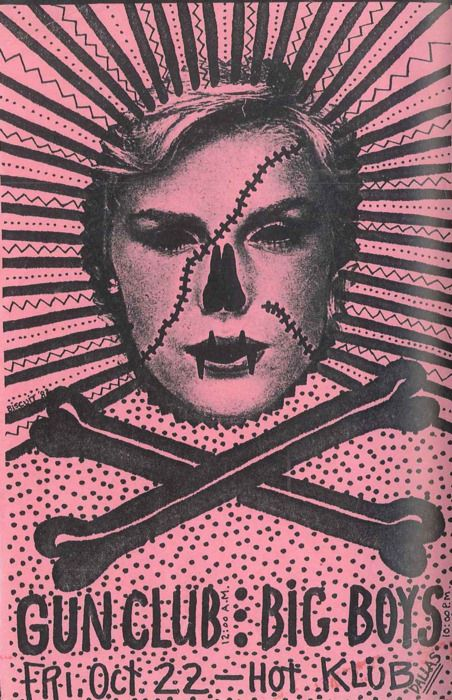The Gun Club and The Big Boys | 35 Old Punk Flyers That Prove Punk Used To Be So Cool