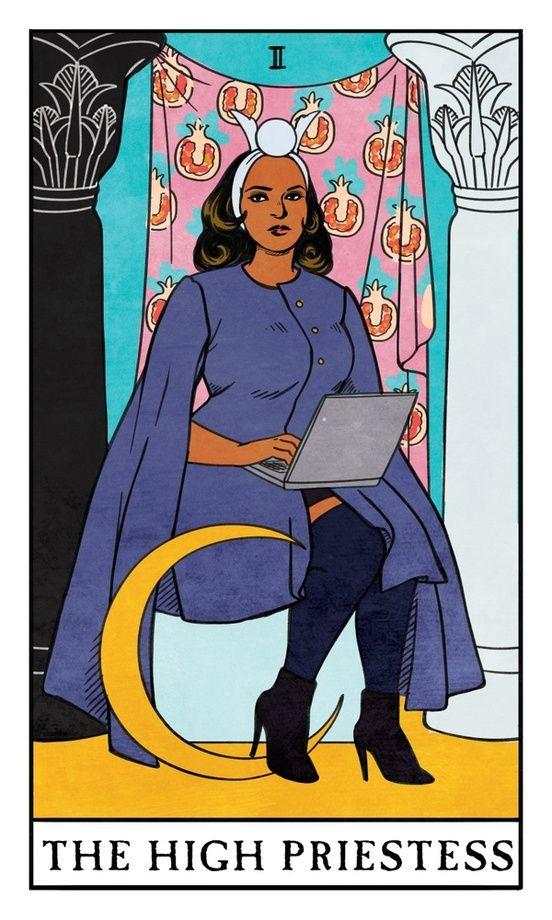 The High Priestess - Modern Witch Tarot, an art print by Lisa Sterle